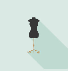black mannequin icon in flat design vector image