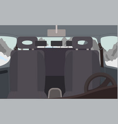 Black salon car interior vehicle for trip vector