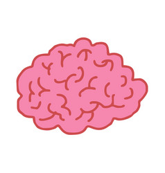 brain drawing isolated brains bends on white vector image