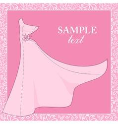 Bride gown wedding theme background vector