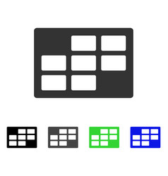 Calendar table flat icon vector