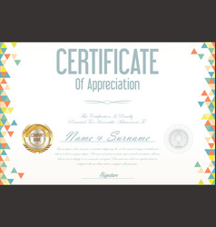 Certificate retro design template 05 vector