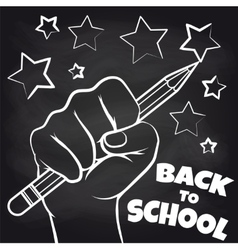 Chalkboard back to scool sketch vector