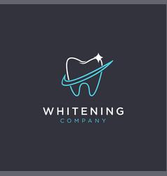 checkmark and shinning teeth logo icon template vector image