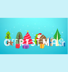 christmas artistic inscription banner vector image