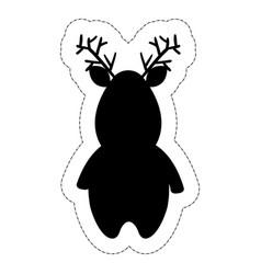 Christmas deer icon vector