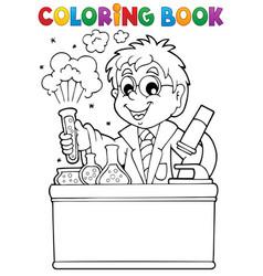 Coloring book school subject 1 vector