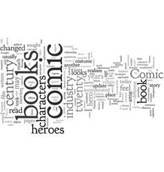 Comic books in st century vector