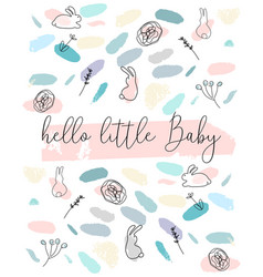 confetti brushes baby shower vector image