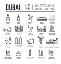 country dubai travel vacation guide of goods vector image