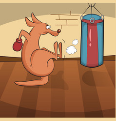 Cute kangaroo engaged in active sports vector