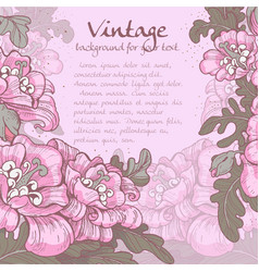 decorative vintage violet frame poppies vector image