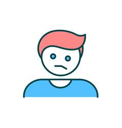 Deeply depressed mood rgb color icon vector