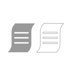 document icon grey set vector image