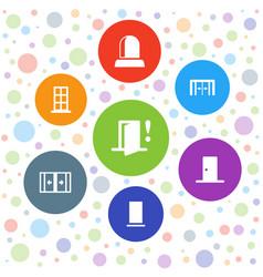 Doorway icons vector