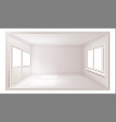 Empty room empty wall sunlight falling vector