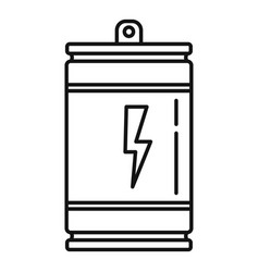 energy drink product icon outline style vector image