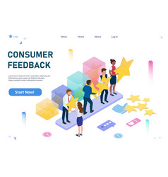 Feedback consumer or customer review evaluation vector