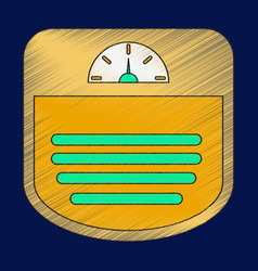 Flat shading style icon sports scales vector
