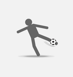 Football player kick the ball vector