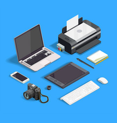 Graphic design set vector