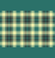 green yellow plaid check pixel seamless pattern vector image