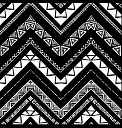 hand drawn pattern zigzag and stripe line vector image