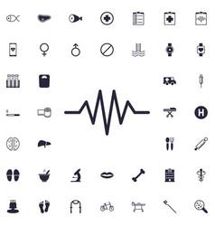 Heartbeat cardiogram line icon vector