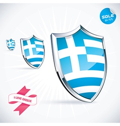 I Love Greece Flag vector