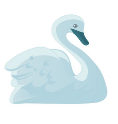 images of swan in a simple style on a white vector image