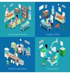Isometric Hospital Interior Medical Laboratory vector