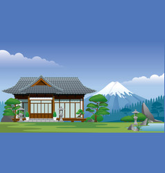 Japan traditional home vector