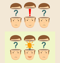 leadership concept with open heads vector image