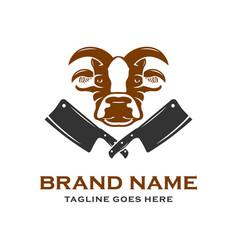 logo design beef farmers vector image