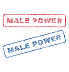 Male power textile stamps vector