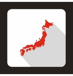Map of Japan icon flat style vector image