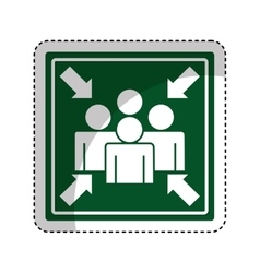 Meeting point sign icon vector image