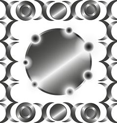 Metal circle rings pattern vector image