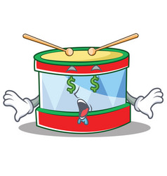 money eye toy drum character cartoon vector image