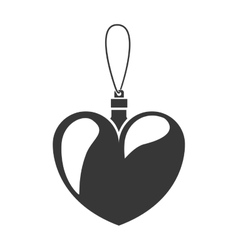 Monochrome silhouette with decorative heart vector