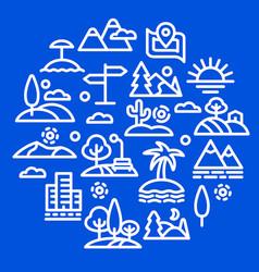 Nature concept icon vector