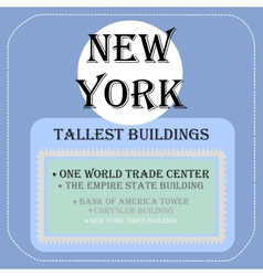 new york tallest buildings icon flat vector image