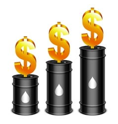 Oil Barrels and Dollar vector image