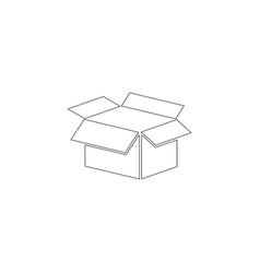 Open box flat icon vector