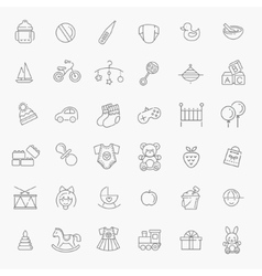 Outline web icon set batoys feeding and care vector