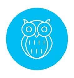 Owl line icon vector