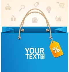 Paper Bag Background Sale vector
