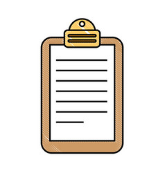 paper clipboard isolated icon vector image