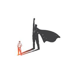 personal development leadership ambition concept vector image