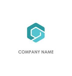 polygon shape abstract business logo vector image